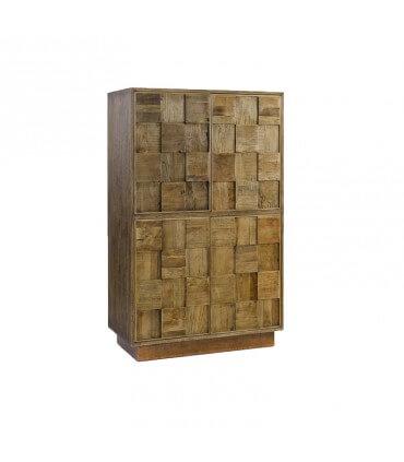 Armario madera base cobriza