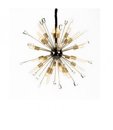 Lámpara MD dorada envejecida y cristal