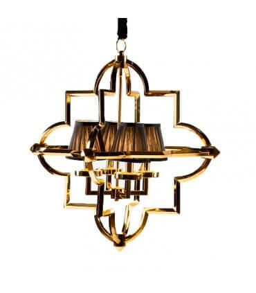 Lámpara metal dorado