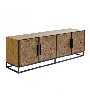 Mueble de TV roble envejecido