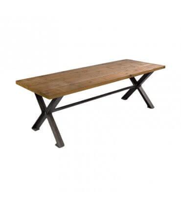 Mesa SW de madera y acero