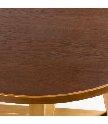 Mesa redonda madera y metal