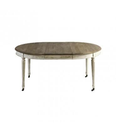 Mesa extensible madera envejecida y gris
