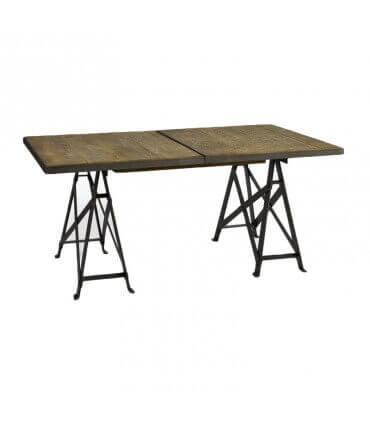 Mesa extensible de madera y metal
