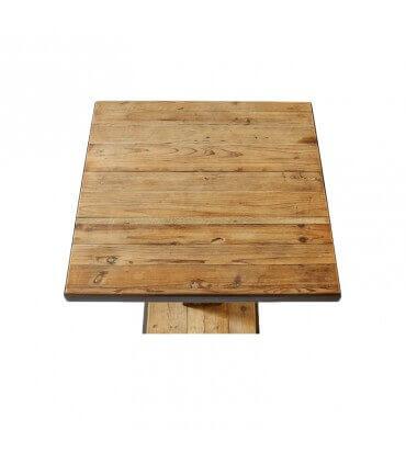 Mesa EM de madera y metal