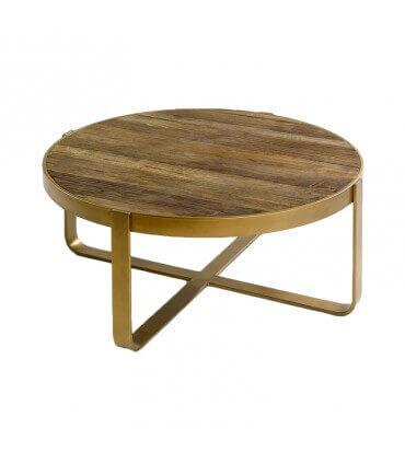 Mesa dorada y olmo