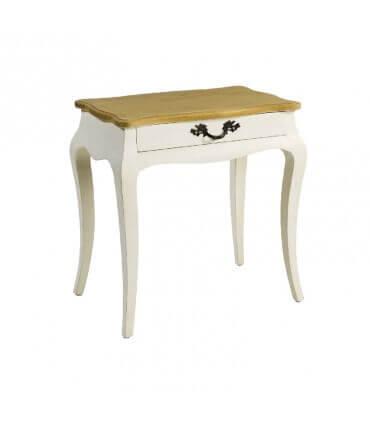 Mesa de noche madera blanco