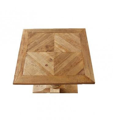 Mesa de madera envejecida de pino reciclado