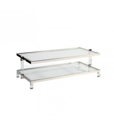 Mesa de centro SS de acero y cristal