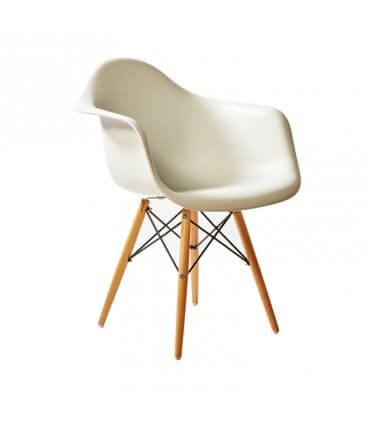 Sillón inspirado Eames pata de madera