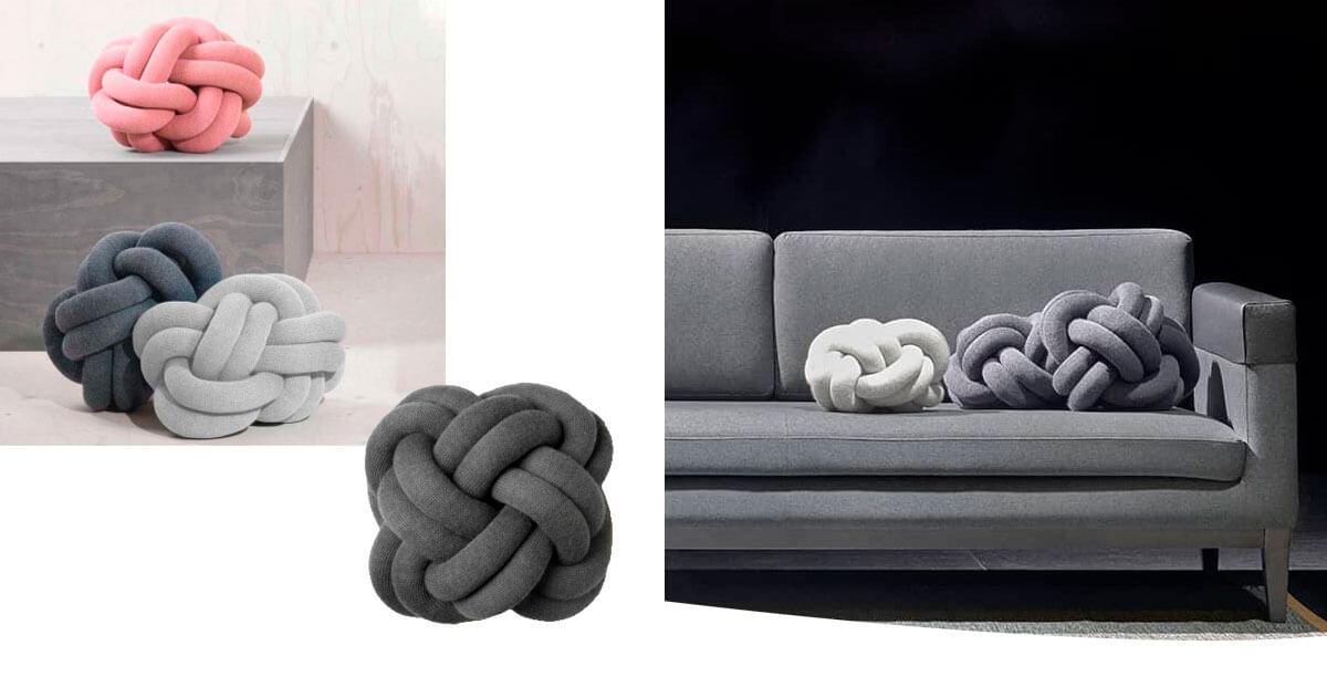 Cojín Knot Cushion de Desing House Stockholm en CarlaKey
