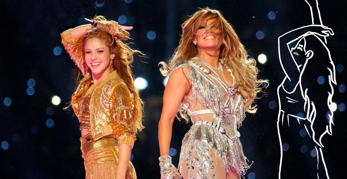 JLo y Shakira en la Superbowl de 2020