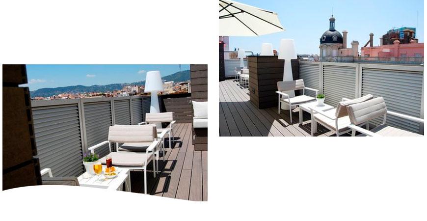 Hotel Zenit Barcelona con muebles Diphano