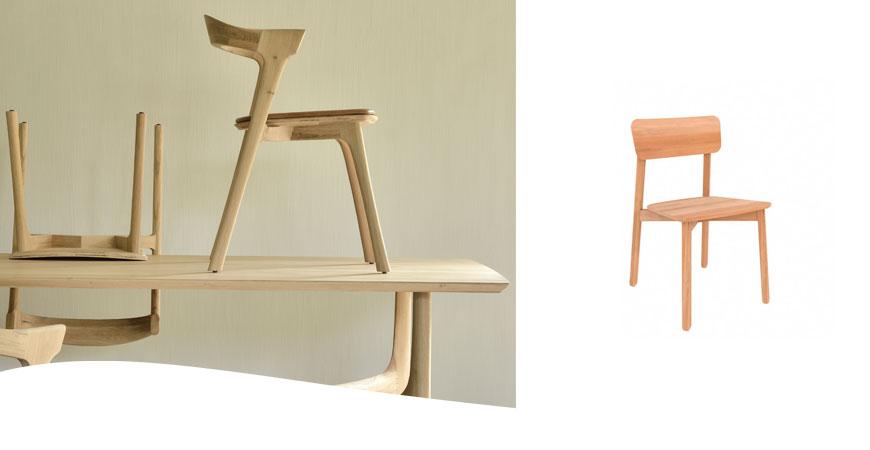 Mesa y silla Bok de Ethnicraft