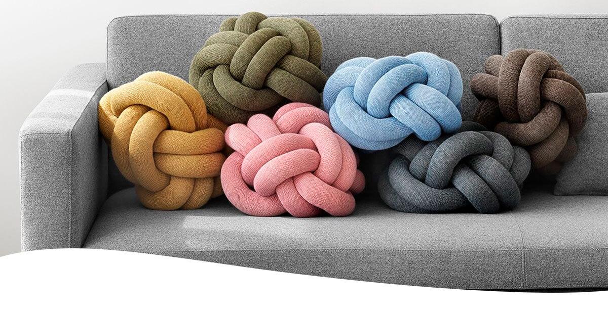 Cojín the Knot de Design House Stockholm en CarlaKey