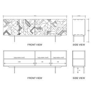 Aparador Graphic 4 puertas CarlaKey