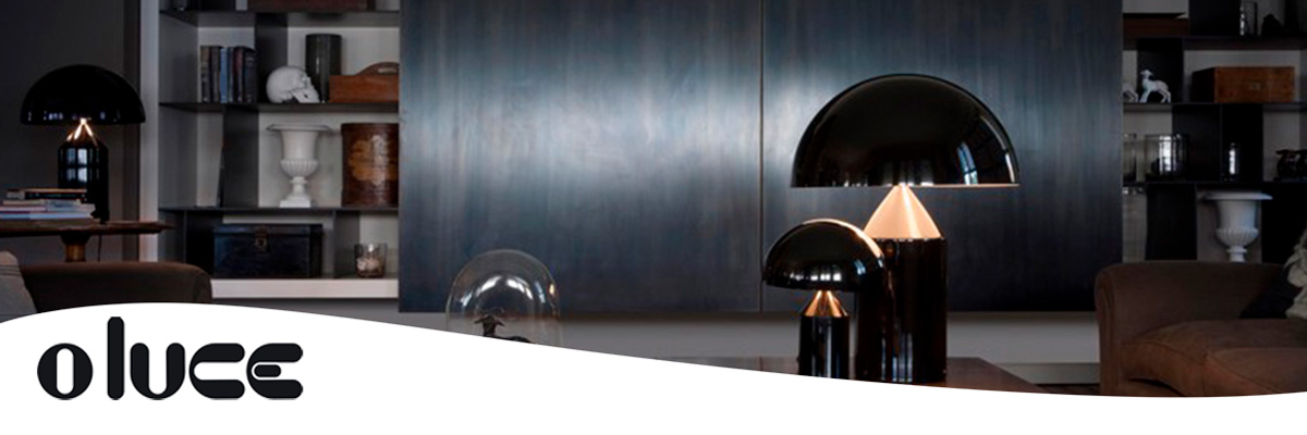 Lámpara Atollo, icono del diseño, Marca Oluce