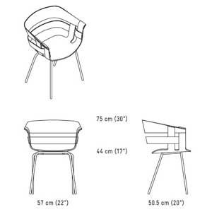 Sillon Wick con patas de metal de  Design House Stockholm