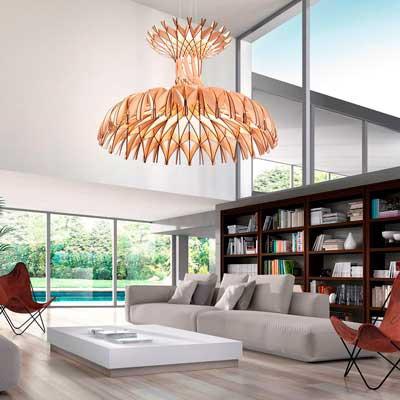 Lámparas colgantes de diseño en los techos de tu casa