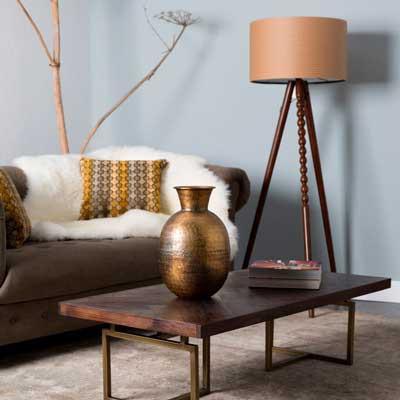 Lámparas de pie para crear ambientes